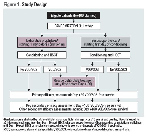 DESIGN OF PHASE 3, RANDOMIZED TRIAL OF DEFIBROTIDE FOR